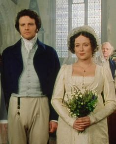 Colin Firth (Mr. Fitzwilliam Darcy) & Jennifer Ehle (Elizabeth Bennet) - Pride and Prejudice directed by Simon Langton (TV Mini-Series, BBC, 1995) #janeausten