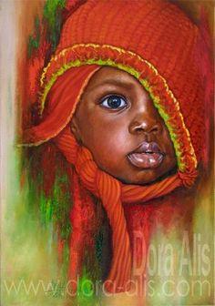 African Children Paintings By Dora Alis, 2014 ~ Black Art African American Artwork, African Art, Arte Black, Foto Poster, African Children, Art Children, Black Artwork, Afro Art, Black Women Art