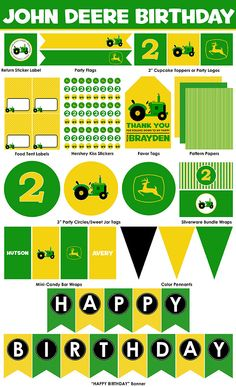 John Deere Birthday Party Printables  Mini Package by LiPPaperie, $10.00
