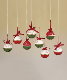 Look at this #zulilyfind! Holiday Family Jingle Bell Ornament Set #zulilyfinds