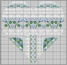 Heart shaped cross stitch pattern.