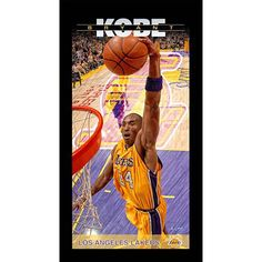 Kobe Bryant Los Angeles Lakers Player Profile Wall Art 9.5x19 Framed Photo