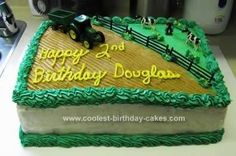 Homemade Farming Tractor Cake Design
