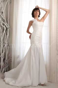 $215.99 w/o shipping, $255.99 w/ shipping ~ Name: Ava Gown.  SKU#: 80059.  Silhouette: Mermaid/Trumpet.  Neckline: One-Shoulder.  Train: Court.  Fabric: Taffeta.  Back Closure: Back Zipper.