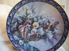 Basket Bouquets Collectible Plate  by Lena Liu  by MemeresAttic