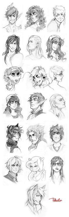 Varios rostos diferentes