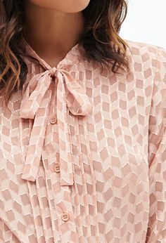 Geometric Button-Down Blouse | FOREVER21 - 2000081736