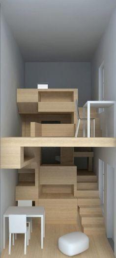 Modern nursery design idea by Architects - Home Decoration Concept Architecture, Interior Architecture, Interior Design, Lofts, Home Furniture, Furniture Design, Mini Loft, Tiny House Cabin, Compact Living