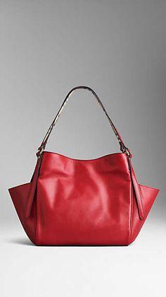 Small Nappa Leather Tote Bag