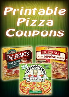 Do you love pizza as much as we do? Get your free pizza coupons at http://freeprintableshoppingcoupons.com/free-printable-grocery-coupons/.  1 dollar off on Newman's Own and 1 dollar off on Palermo's Pizza.  Yum!