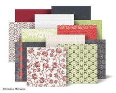 P.S. I Love You 12x12 Designer Cardstock from Creative Memories. Available through February 2013, while supplies last!