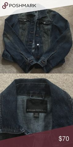 Banana Republic denim jacket. Size XS Banana republic jean jacket. Worn only twice. I found one I like better after purchasing this one. Size XS. Nice and durable Banana Republic Jackets & Coats Jean Jackets
