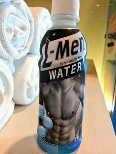 Only men can drink this water. Visual Literacy, Drink Bottles, Water Bottle, Nutrition, Canning, Sociology, Drinks, Gender, Stuff To Buy
