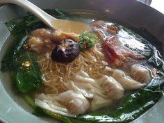 餛飩麵  wan-tan noodle