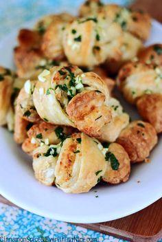 Parmesan Puff Pastry Garlic Knots