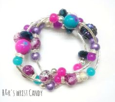 Hey, I found this really awesome Etsy listing at https://www.etsy.com/listing/182270370/purple-party-beaded-bracelet-set