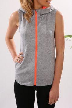 Hurley - Dri-Fit Sleeveless Fleece Heather Grey Hyper Orange $69.99 Shop // http://www.jeanjail.com.au/hurley-dri-fit-sleeveless-fleece-heather-grey-hyper-orange-4.html