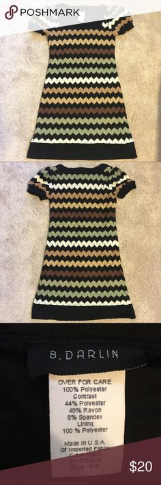 Chevron sweater dress Excellent condition, never worn. B Darlin Dresses