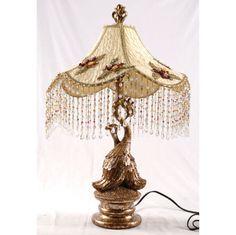 Gorgeous Vintage Style Bordoir Peacock Table Lamp So Chic | eBay