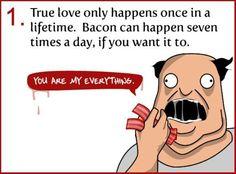 I love bacon.