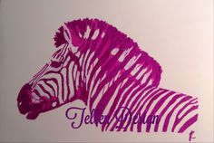 Pink zebra promarkers #tellendesign