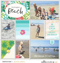 Beach Vacation Project Mouse (Paradise) – Scrapbook Kit and Journal Cards | Sahlin Studio | Digital Scrapbooking Designs