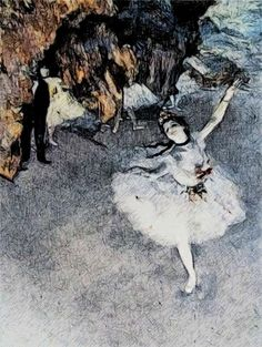 Dancer on the Stage painting by Edgar Degas, rendition Edgar Degas Artwork, Moose Art, Dancer, Stage, Painting, Animals, Animales, Animaux, Dancers