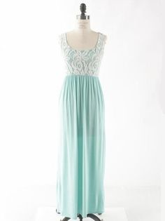 Mint Lace Romantic Maxi - $44.99 : FashionCupcake, Designer Clothing, Accessories, and Gifts