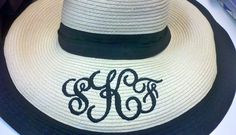 straw hat with awesome sydney font