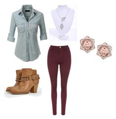 """Just cuz"" by ashlyn-simpson ❤ liked on Polyvore featuring LE3NO and JustFab"