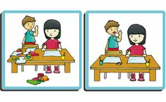 Good behaviours' is a self-correcting association game, designed to teach the proper attitudes to adopt in a variety of settings. Kindergarten Math Activities, Preschool, Nyan Nyan, Art For Kids, Behavior, Adoption, Teaching, Fictional Characters, September