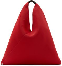 MM6 Maison Margiela: Red Mesh Neoprene Tote | SSENSE