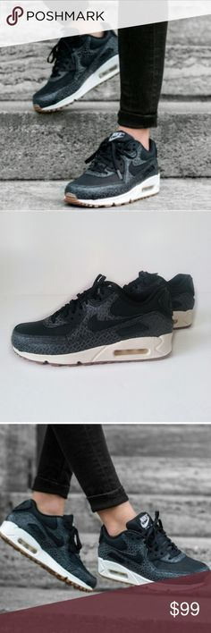 NWOB Nike Air Max Prem Black Sail Gum sneakers Nike Air Max Prem Black Sail Gum sneakers. Size 8  Price is firm!  Super comfortable, flexible feel. Additional padding in the collar and ankle enhances comfort. Split in the heel helps spread force evenly during impact.   Brand new without original box 🚫Trades Nike Shoes Sneakers