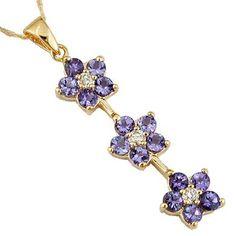 Ladies' Diamond & Tanzanite Necklace