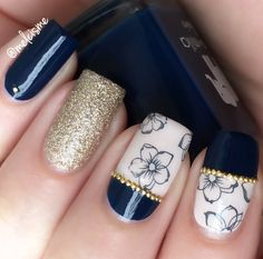 classy look using nail decals