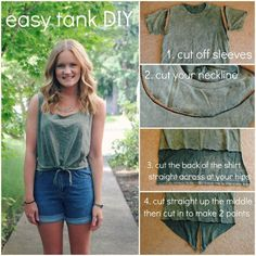 DIY tank -- to do w/ purple v neck or w/ tie dye