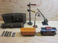 Vintage O Gauge Lionel Train Caboose Wabash 4890, Boxcar PENNRR 4862 Orange, 12…