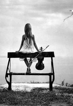 She was alone. She remembered the old times, but found it very hard to remember, for she hurts every time she does. She played and the birds flew away. She felt sadder and sadder but she tried to make her music sound happy.