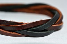 Multi-Strand Leather Bracelet Brown and Black by SomeRsaltS