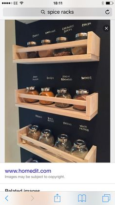 Spice Rack Free Pantry Labels 11 Creative Ways to Store your Spices 18 Ways To Hack IKEA Spice Racks OMG! Kitchen Pantry, Diy Kitchen, Kitchen Decor, Awesome Kitchen, Kitchen Cart, Kitchen Hacks, Kitchen Furniture, Diy Furniture, Kitchen Ideas