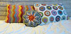 Crochet pillows at dappertoad.com