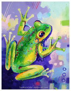 Frog by TooMuchColor.deviantart.com on @deviantART
