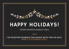 Happy holidays from Sharon Hurley Hall #christmas