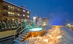 Wie klingt das: von der #Skipiste in den Whirlpool, danach ein feines Abendessen und voller Elan in einen neuen Urlaubstag in #Saalbach starten – traumhaft oder? Spa Hotel, Sport, Mansions, House Styles, Home Decor, Ski Trips, Winter Vacations, Skiing, Suppers