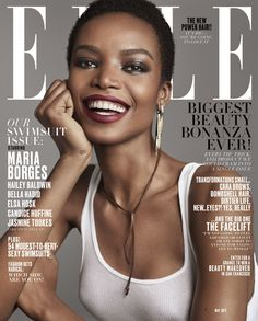 Model Maria Borges for Elle Magazine May 2017