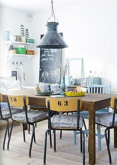 Great industrial dining room photographed by Stockholm-based photographer magdalena björnsdotter