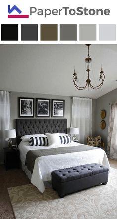 Bedroom color palette - black dark-gamboge dark-grayish-yellow
