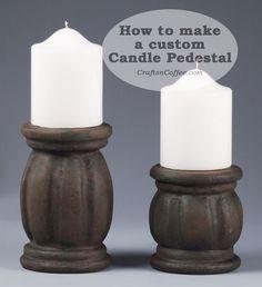 DIY Custom, chunky candle pedestals on CraftsnCoffee.com.