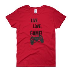 WOMEN'S FIT LIVE, LOVE, GAME TEE - Thumbnail 7