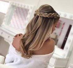 Braids With Bead Embellishments - 40 Best Big Box Braids Hairstyles Big Box Braids Hairstyles, Formal Hairstyles, Down Hairstyles, Braided Hairstyles, Wedding Hairstyles, Hairstyle Ideas, Simple Prom Hair, Braut Make-up, Wedding Hair Down